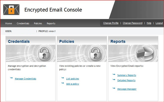 Encrypted Email Console